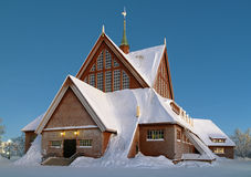 Kiruna Church in winter, Sweden. Kiruna Church in winter, Norrbotten Province, Sweden Royalty Free Stock Image
