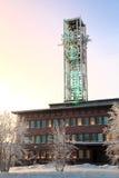 Kiruna City Hall at dusk Sweden Stock Photo