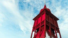 Kiruna kościelny dzwonkowy wierza Zdjęcie Stock