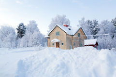 Kiruna Sweden. Winter landscape with house at Kiruna Sweden Stock Photography