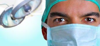 kirurg för framsidamaskering Fotografering för Bildbyråer