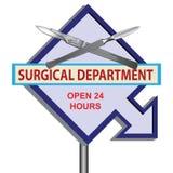 Kirurgisk avdelning för tecken stock illustrationer
