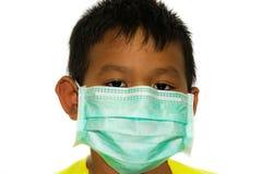 Kirurgisk maskering för barn royaltyfria foton