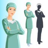 kirurgkvinna Arkivbilder