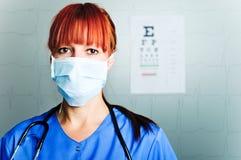kirurgkvinna Arkivbild