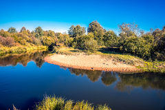 Kirzhach River in the autumn evening. Royalty Free Stock Photography