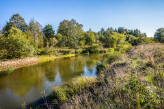 Kirzhach River in the autumn evening. Stock Image
