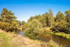 Kirzhach River in the autumn evening. Royalty Free Stock Photo