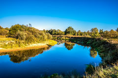 Kirzhach River in the autumn evening. Stock Images