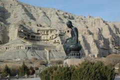 Kirzir Tausend-Buddha Höhle stockbild