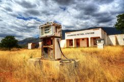 Kisangiro, Tanzania - 25th July 2013, Abandoned Petrol Station royalty free stock photography