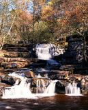 Kisdon Falls, Keld, Yorkshire. View of fast flowing Kisdon Falls Waterfall in the Autumn, Keld, Yorkshire Dales, North Yorkshire, England, UK, Great Britain Stock Photos