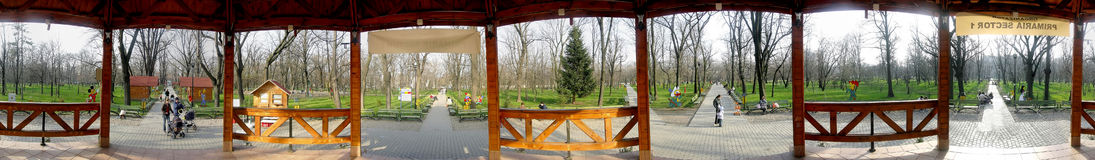 Kiseleff park 360 degrees panorama Royalty Free Stock Image