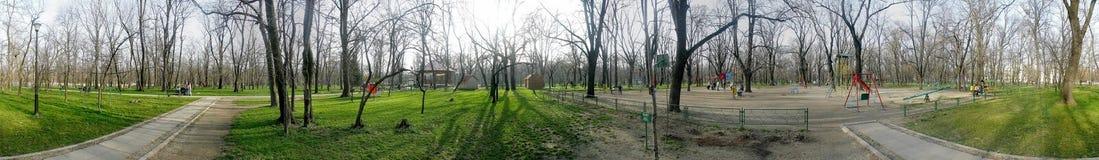 Kiseleffpark 360 graden panorama Royalty-vrije Stock Afbeeldingen