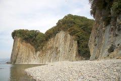 Kiselev klippa också som är bekant som klippan av revor, Tuapse, Blacket Sea, Ryssland Arkivbild