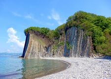 Kiselev klippa också som är bekant som klippan av revor, Tuapse, Blacket Sea, Ryssland Royaltyfria Foton