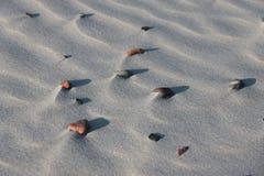 Kiselstenar på sanden Royaltyfri Foto