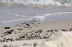 Kiselstenar på stranden Royaltyfria Foton