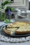 Kish with asparagus. Quiche in a cut Royalty Free Stock Photography