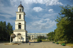 Kishinev, bell tower in center of the ci stock photo