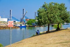 Kishon Port, Haifa Stock Photos