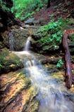 Kishwaukee峡谷瀑布伊利诺伊 免版税库存照片