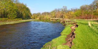 Kishwaukee河侵蚀伊利诺伊 免版税库存图片