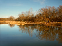 Kishwaukee Fluss in Illinois Lizenzfreies Stockfoto