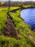 Kishwaukee River Bank Erosion Illinois Stock Photography