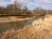 Kishwaukee River in Illinois. The Kishwaukee River winds through northern Illinois on a sunny autumn day Royalty Free Stock Photo