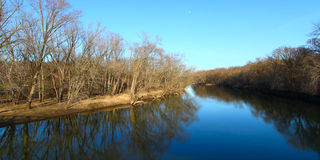 Kishwaukee River in Illinois Royalty Free Stock Image