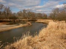 Kishwaukee River in Illinois. The Kishwaukee River winds through northern Illinois on a sunny autumn day Royalty Free Stock Photos