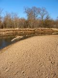 Kishwaukee River Landscape Illinois. Kishwaukee River winds through northern Illinois on a sunny autumn day Royalty Free Stock Images