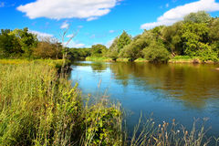 Kishwaukee River in Northern Illinois. The Kishwaukee River flows through Illinois on a beautiful day Stock Image