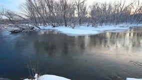 Kishwaukee zimy Rzeczna scena zbiory