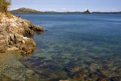 Kisimamy Schacht der Küstenlinie und des Sandes Stockbild