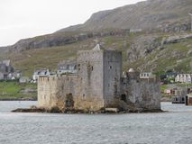 Kisimul slott Arkivbild