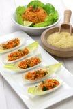 Kisir,碾碎干小麦沙拉,土耳其食物 免版税库存照片
