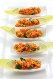 Kisir, Bulgursalat, türkisches Lebensmittel Stockfotografie