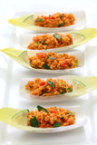 Kisir, salade de bulgur, nourriture turque Photographie stock