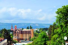Kislovodsk. Is a spa city in Stavropol Krai, Russia, in the North Caucasus region of Russia which is located between the Black and Caspian Seas royalty free stock images