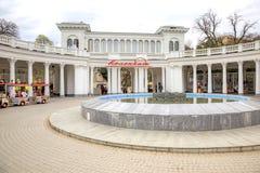 Kislovodsk krajobrazowy miejski kolumnada zdjęcia royalty free