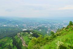 Kislovodsk. Is a spa city in Stavropol Krai, Russia, in the North Caucasus region of Russia which is located between the Black and Caspian Seas stock image