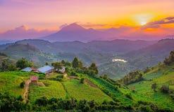 Free Kisoro Uganda Beautiful Sunset Over Mountains And Hills Stock Photography - 128327812
