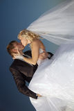 Kiss. Day of wedding for in love the happiest day in a life Royalty Free Stock Image
