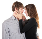 Before the Kiss Stock Images