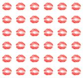 Kiss. Background from imprint of the pomade Stock Photography