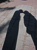 Kiss. Man and Woman's Shadows Kiss Royalty Free Stock Image