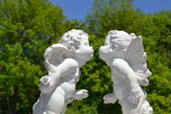 Kiss of an angel royalty free stock images