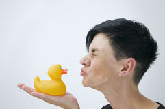 Kiss for aversion Royalty Free Stock Photos
